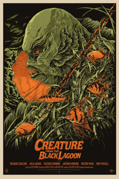 Creature from the Black Lagoon (1954) artwork by Ken Taylor   Awesome artwork!