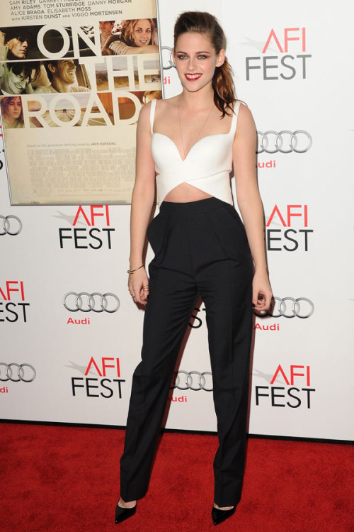 Twilight star Kristen Stewart is one of our best-dressed celebs of the week in a cutout cropped top by Balenciaga. Check out the rest of the stars who topped our list »