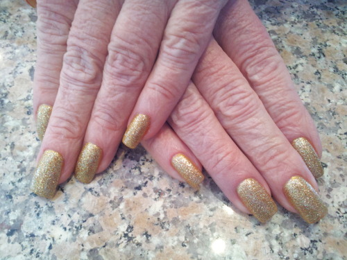 Simple Gold glitter on gold base