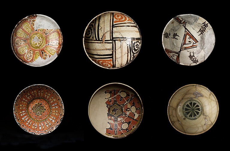 Bowls, Uzbekistan, 9-10th century. Victoria and Albert Museum collection.
