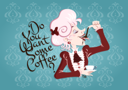 Do You Want Some Coffee? Created on Inkscape©tatiartsy.com 2011