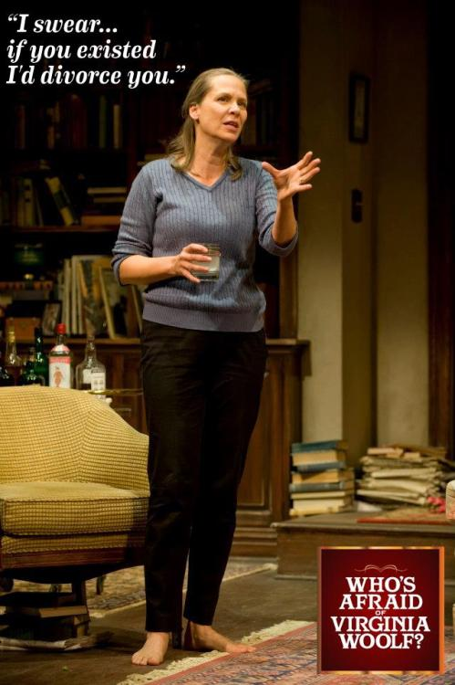 Amy Morton as Martha in Edward Albee's Who's Afraid of Virginia Woolf?