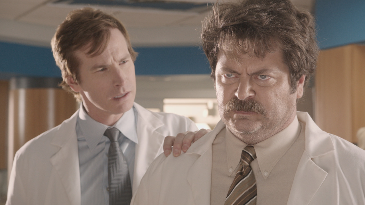 Nick Offerman on Childrens Hospital TOMORROW (Thursday) at Midnight
