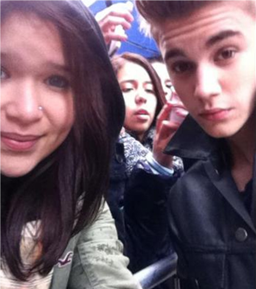 Justin with a Fan today!