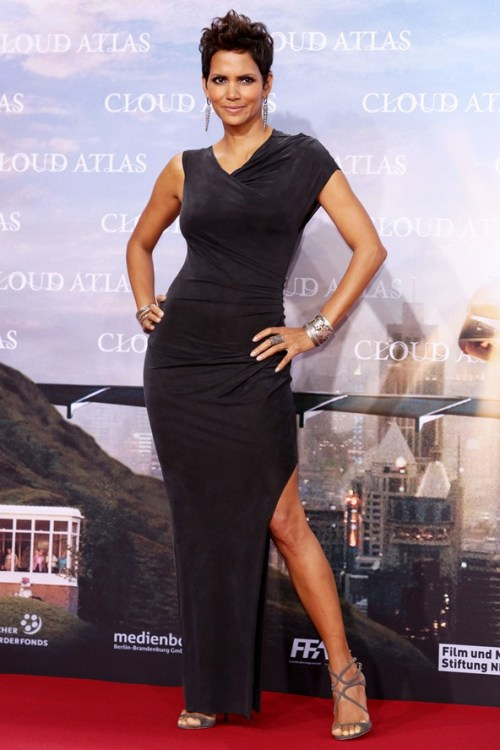 SPOTLIGHT.  Halle Berry in Berlin wearing the AW11 Torrent Dress.