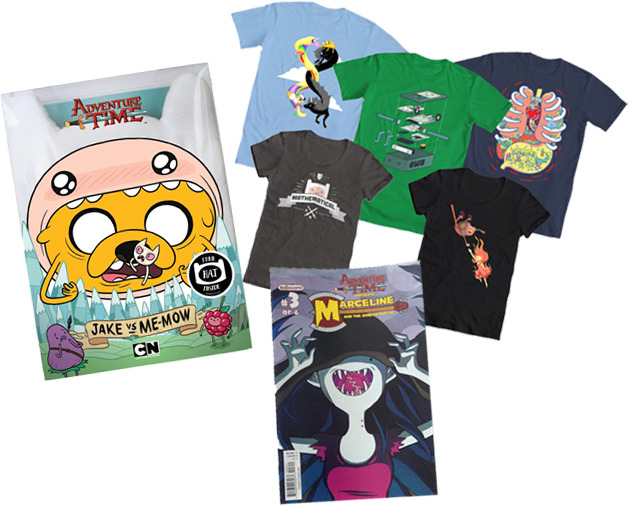 "adventuretime:  The last day, fans and friends. Go enter. welovefineshirts:  Today's the last day to enter our big Adventure Time prize package giveaway! DVDs from Frederator & Cartoon Network Entertainment, contest-winning tees from us plus Kaboom Comics' ""Marceline & the Scream Queens!"" CLICK HERE to see our original post on how to enter! Good luck!   omg send me one or ill die!"