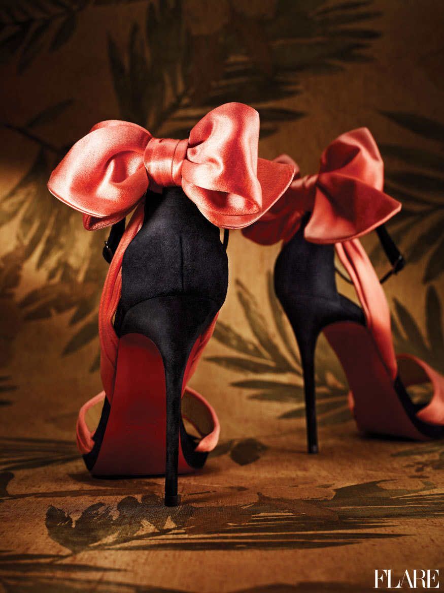 Sexiest Shoes Ever by Christian Louboutin - December 2012 / Photographer: Hamin Lee  Own the party with statement shoes that add shine to your festive ensemble.
