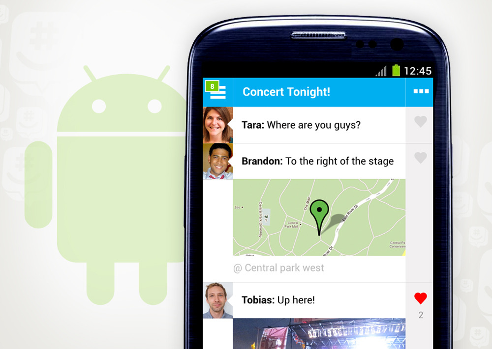 "GroupMe 4.0 for Android (Beta) We're thrilled to offer the new GroupMe 4.0 to Android users today as a beta. It's simpler, easier to use, and more beautiful than ever before.  The full version is not totally ready yet, but we were so excited to share this with you that we decided to make this app available in the meantime — we hope you like it! Tap here from your Android browser, visit groupme.com/androidbeta, or follow the instructions below to download it now.  Notes: Please be aware that this app is meant for people who have used a GroupMe app before. If you're not already a GroupMe app user, you'll have to download our current Android app to register, then upgrade to the beta. The app totally works for chatting with your groups, but you may notice a few missing features, namely, languages other than English, emoji, and read receipts. Rest assured, they'll be there in the final version. #) Download Instructions: On your Android Device, allow installation of non-Play Store apps. You can find this option in the Settings Menu under Applications or Security, typically labeled ""Unknown Sources."" Tap here from your Android browser to download the beta. Tap on the completed download in the notification bar or in your Downloads folder. If you see a ""Replace app?"" dialog, tap ""OK"". Tap ""Install"" to finish. If you have any feedback, we'd love to hear it! Email us directly at androidbeta@groupme.zendesk.com."