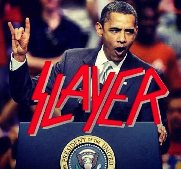 wonder if obama got the metal vote…