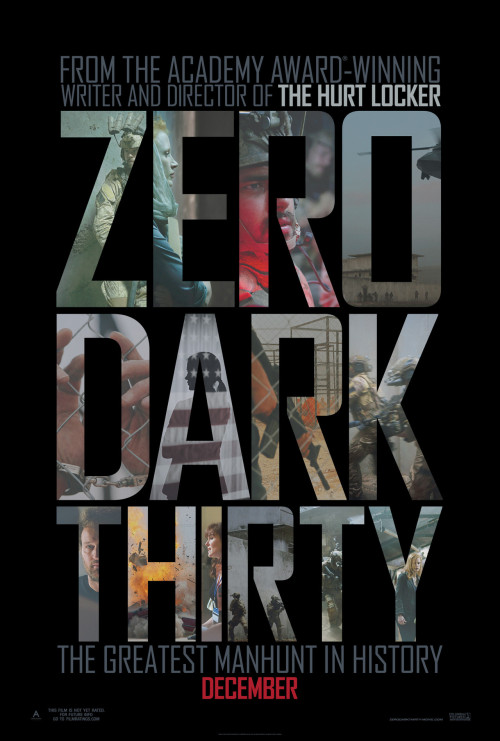 The first poster for 'Zero Dark Thirty,' the story of Osama bin Laden's manhunt  (Moviefone Exclusive)