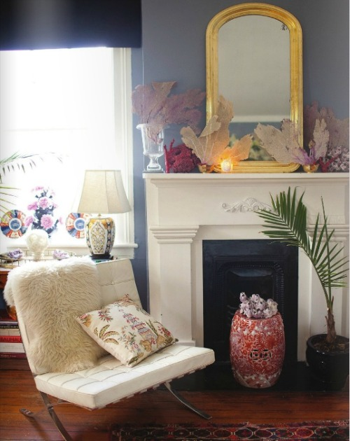 A perfectly styled fireplace @matchbookmag