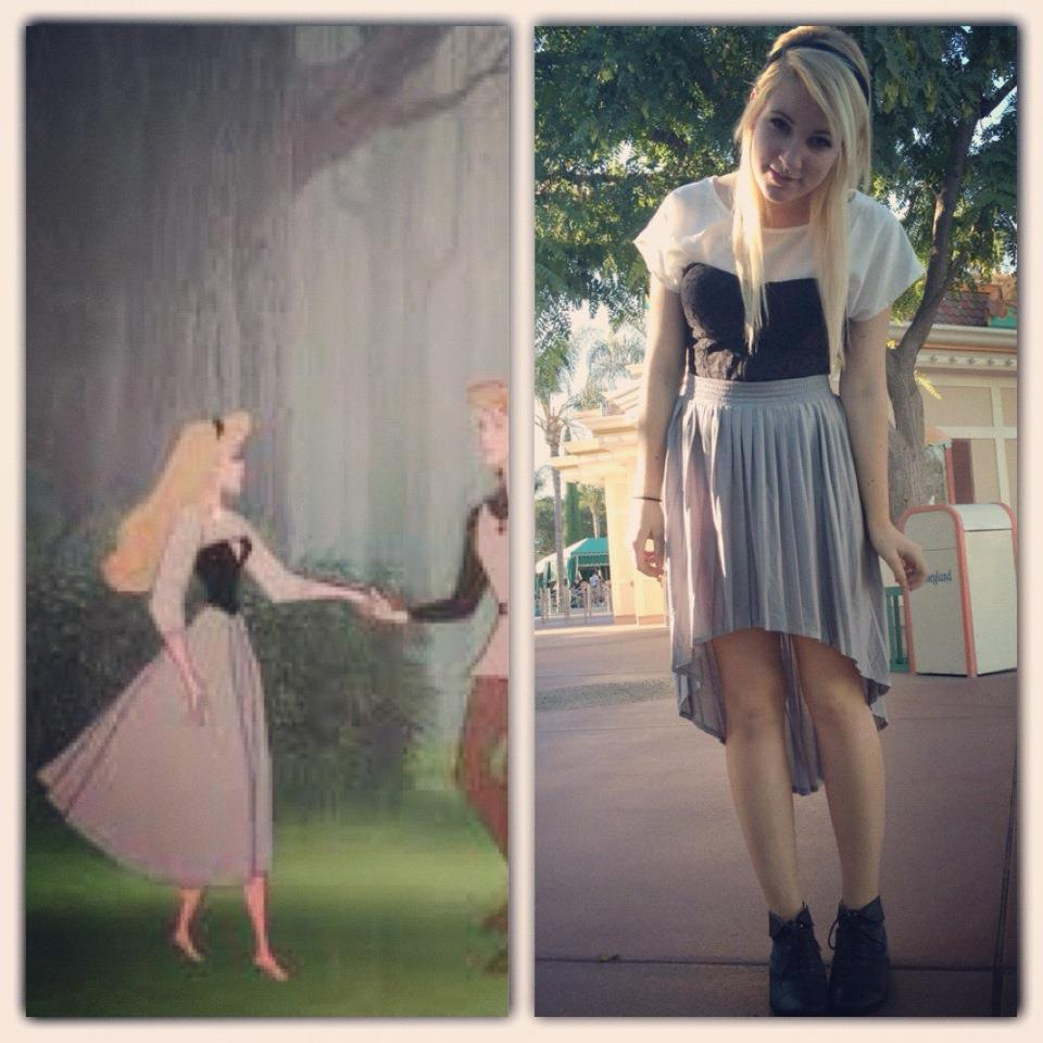 wondering-inwonderland:  yesterday i disneybound as aurora (: