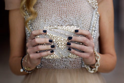 glamour:  When to wear a black mani.