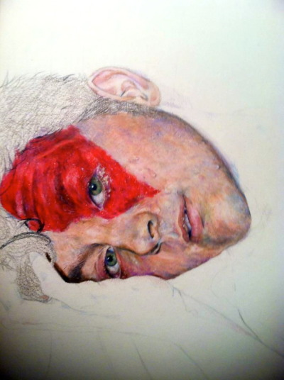 Style does not define skill. Progress shot (1) colored pencil.(that took about 10 hours)