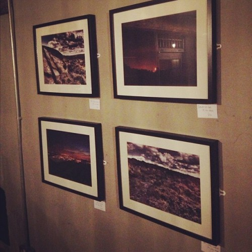 My photographs up in the Young Pretender, Congleton