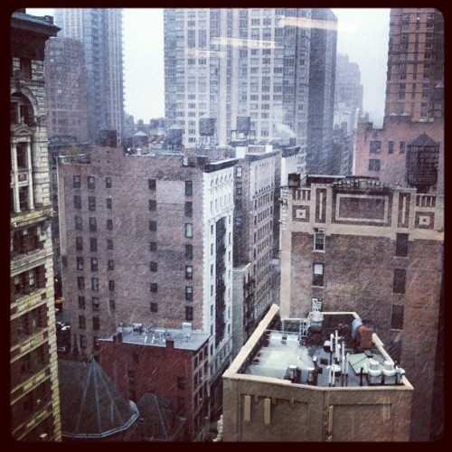 Just your typical November blizzard here in NYC! From the Artsicle HQ