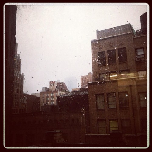 First snow of the year! #nyc #athena #round2