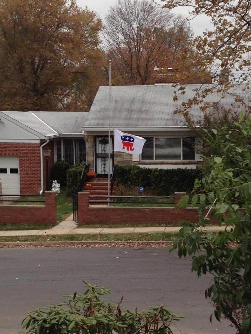 GOP flag at half-mast