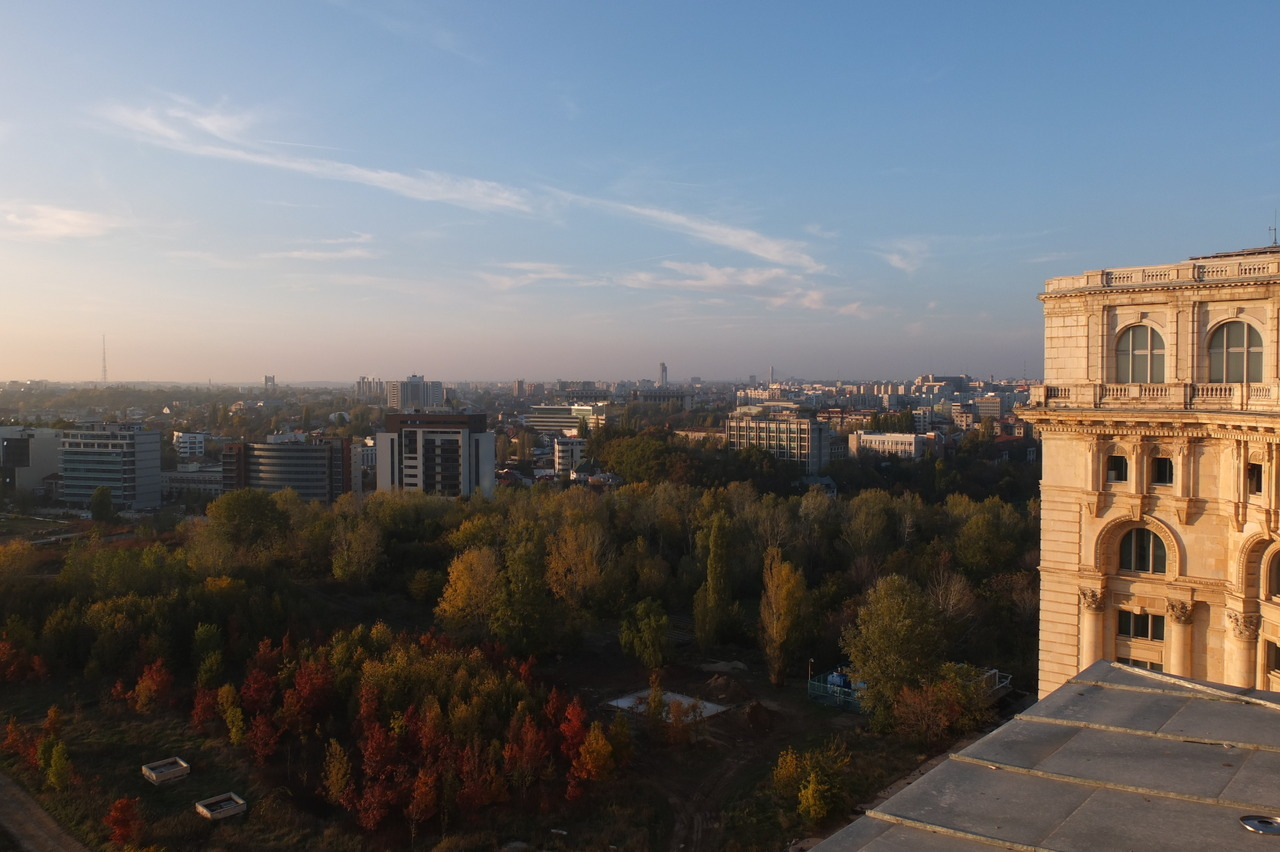 City view from Modern Art rooftop, Bucharest  Photo Thomas Filippini