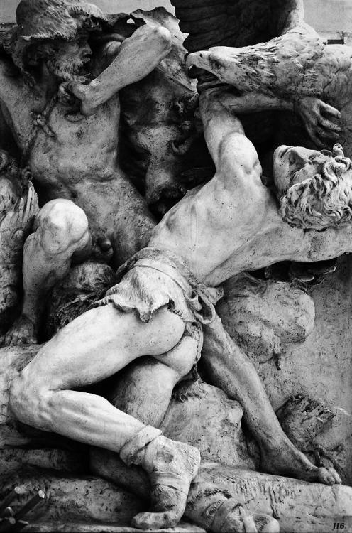 Detail: sculpture in the Musee D'Orsay. Paris.