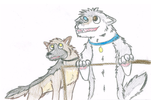 [OOC: Two dogs i drew as a filler eheheh ASKS WILL BE ANSWERED SATURDAY I PROMISE]