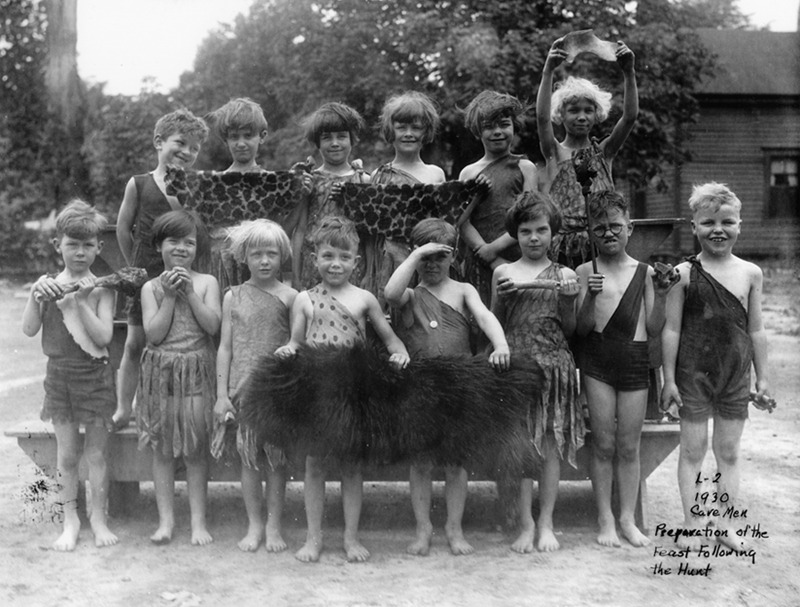 Awesome 1930 pic of Atlanta kids dressed up as cavemen at school. PS One of the kids totally looks like Harry Potter. Browse and order prints from our collection.