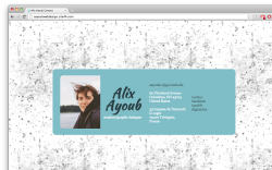 "alixayoub-webdesign:  Project 5: Coding a ""Business Card"" website. Here's the end result of the coding. That was fun, and presented some challenges I was not expecting (like centering the container in the page, which is apparently not usual?), other than the challenge of coding seriously for the first time.  Live version of the page is here."