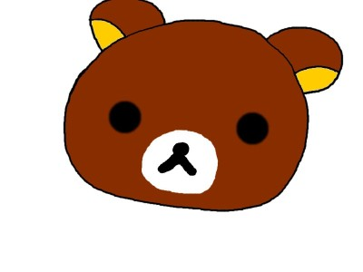 My first attempt at drawing my baby Rilakkuma with my graphic tablet. Ok the drawing is kind of not really in the center xD but it is ok, right? >.<