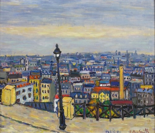 poboh: 1955 Victor Sparre (Norwegian, 1919-2008) ~ Over Paris hustak