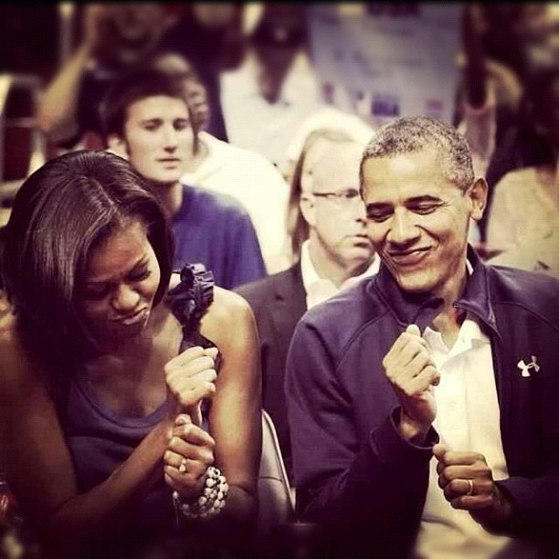 summerloveforeverlove:  They are such a cute couple hahaha #obama #4moreyears #onceyougobarackyoudontgoback