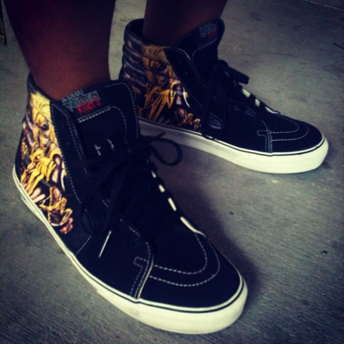 Iron Maiden SK8-Hi @vans_66 Day 3 #todayskicks #wdywt #sneakerholic