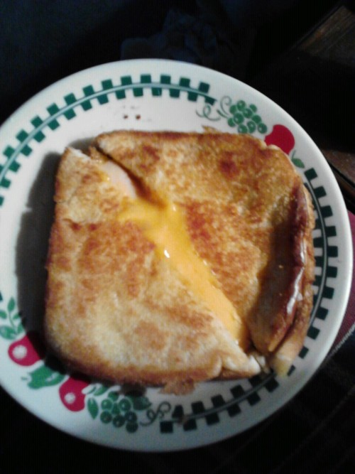 My grilled cheese made by my honeyyyy pot.