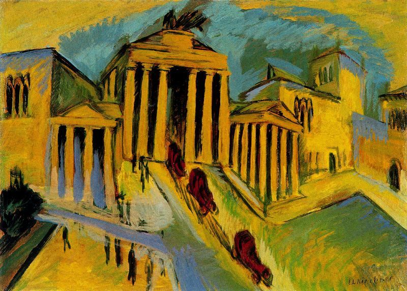 nickkahler:  Ernst Ludwig Kirchner, Brandenburger Tor, Berlin, Germany, 1915