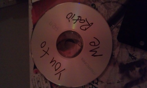 Our first burned CD of anything. OUr first finished track was Cobra Knit Club.