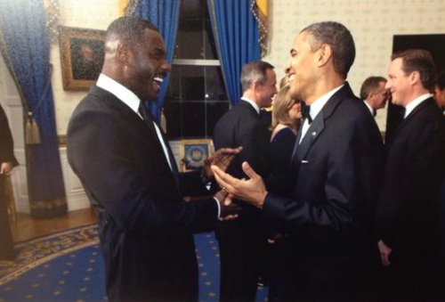 eccentric-central:  scandalmoments:  Idris Elba & Barack Obama in the same photo??? #ForReasons #ForReasons  IS THAT IDRIS AND OBAMA IN THE SAME FRAME? Someone catch me, I'm falling….!