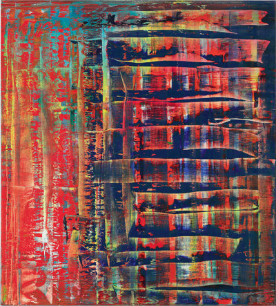 "Gerhard Richter, Abstraktes Bild (779-2) signed, numbered and dated '779-2 Richter 1992' (on the reverse) oil on canvas (200 x 180 cm.), Painted in 1992.""When we describe a process, or make out an invoice, or photograph a tree, we create models; without them we would know nothing of reality. Abstract pictures are fictive models, because they make visible a reality that we can neither see nor describe, but whose existence we can postulate""- —GERHARD RICHTER"