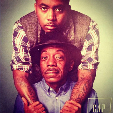 bylizee:  hiphoptoday:  Nas & His Father for the GAP holiday campaign (New)  Love.