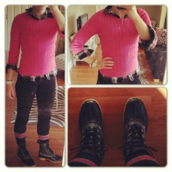 {What I Wore: Tuesday, November 6, 2012} I was feeling preppy meets backwoods Maine. Plaid Shirt: Target Sweater: Gap (similar) Pants: H&M Boots: LL Bean Socks: Nordstrom