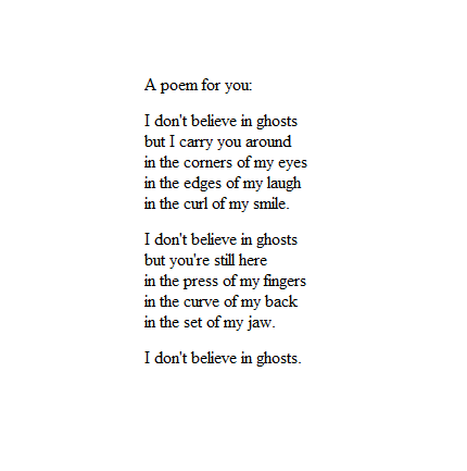 A poem for you.