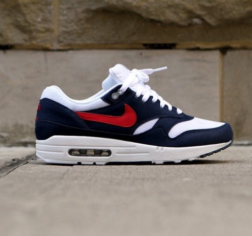 Nike Air Max 1 Blue White & Red Sneaker