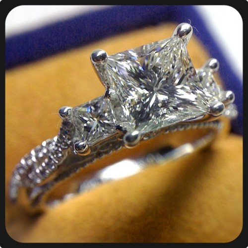 Our jaw dropped when we saw this Venetian-5013P with a gorgeous 2 carat Princess cut diamond.