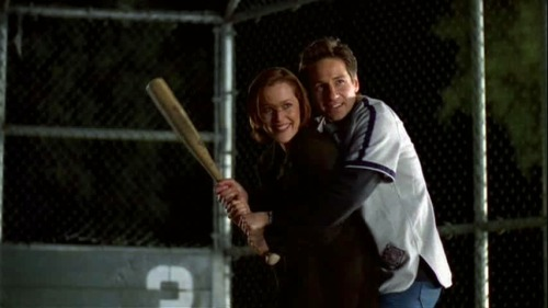 """Shut up Mulder! I'm playing baseball."" - Scully (6x19 ""The Unnatural"")"