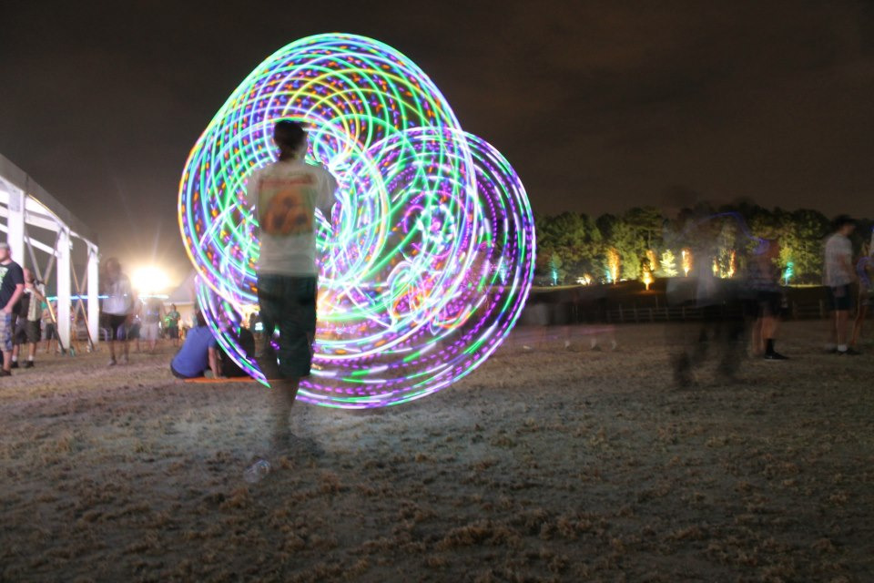 Moodhoops Ember & Luna LED Hula Hoops andreuph:  Mad LED hooping at Counterpoint Music festival