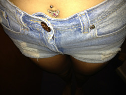 Shorts and belly bar