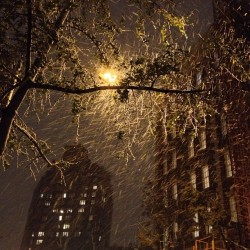 #newyork #WestVillage snow blown nightscape. #nofilter  (at 299 West 12th Street)