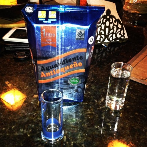 Aguardiente Antioqueño- You think I'd know better by now. #Colombia #Liquor #Travel (at La Ceja)