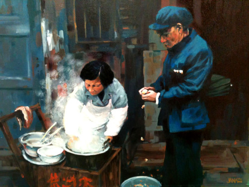 Dumplings (Oil on Canvas)