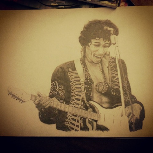 Here have my Jimi Hendrix drawing. Reuploading because i'm bored. :)