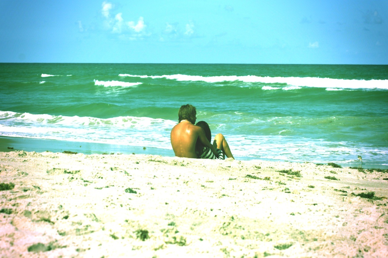 Couple on the beach. Indiatlantic Beach. Florida