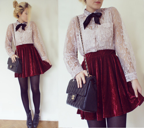 lookbookdotnu:  VELVET AND LACE (by Elena S)